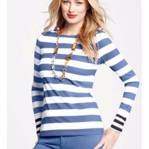 NWT Ann Taylor Boat Neck Striped Tee